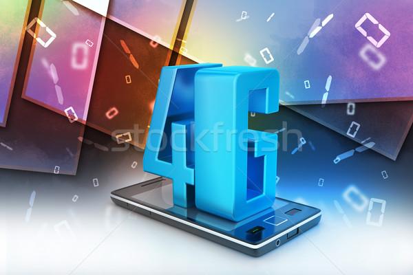 4g internet gegevens mobiele telefoon plug Stockfoto © cuteimage