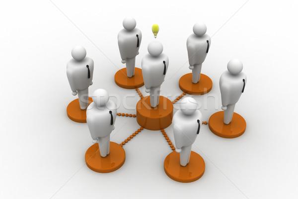 ネットワーク 人 抽象的な 友達 男性 グループ ストックフォト © cuteimage