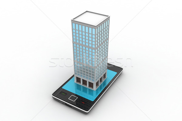 smart phone with real estate concept Stock photo © cuteimage