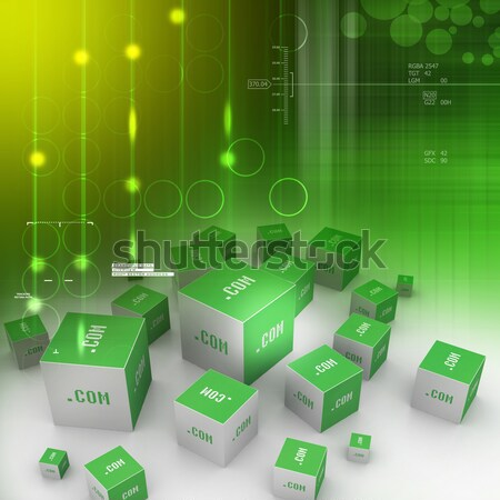 Dot com domain in cubes Stock photo © cuteimage