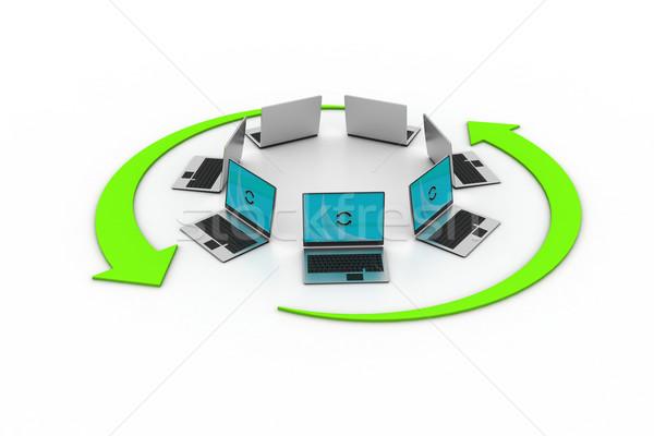 Foto stock: Laptop · rede · negócio · escritório · trabalhar · mundo
