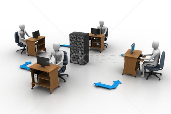 сетей люди сервер мира аннотация друзей Сток-фото © cuteimage