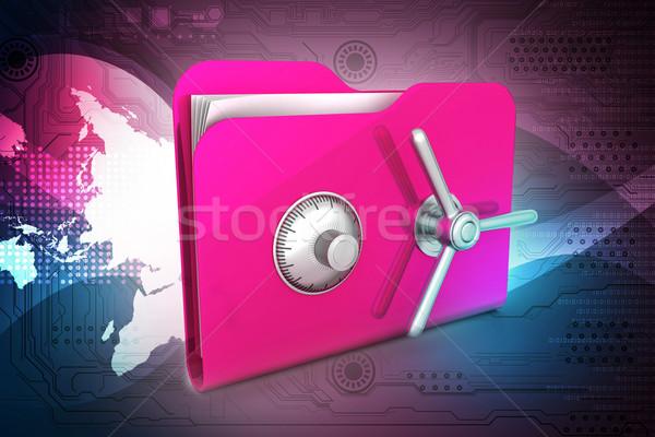 Sécurisé disque dur technologie mobiles lock informations Photo stock © cuteimage