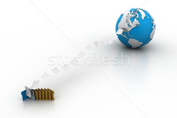 файла мира Мир технологий сервер веб Сток-фото © cuteimage