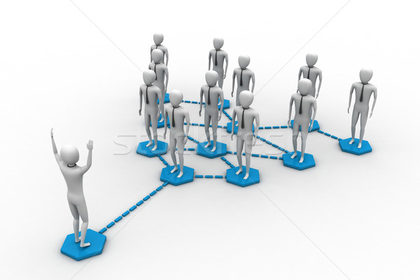 A group of peoples generate a network Stock photo © cuteimage