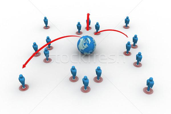 глобальный сетей бизнеса интернет мира дизайна Сток-фото © cuteimage