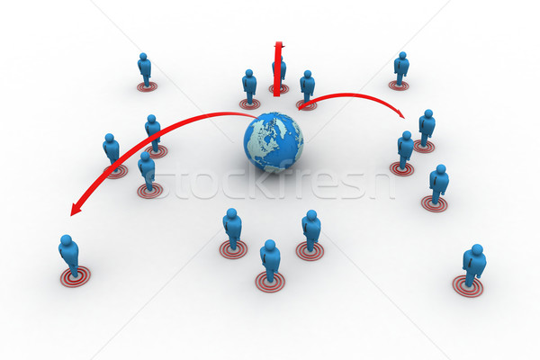 Global  networking Stock photo © cuteimage