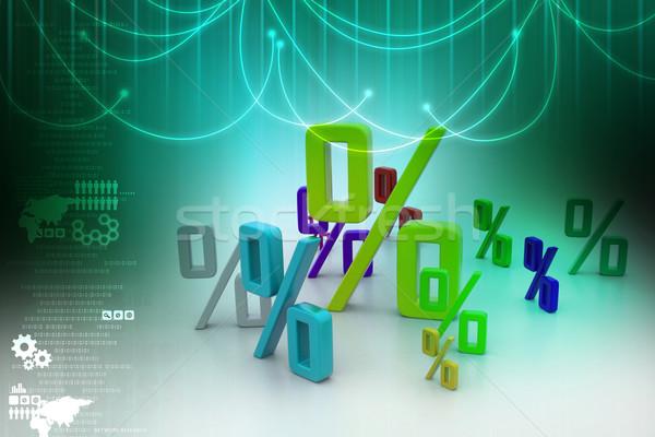 Croissance pourcentage affaires argent fond banque Photo stock © cuteimage