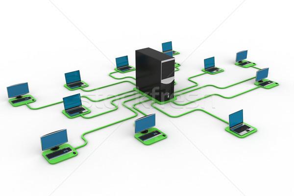 Bilgisayar veri merkez Internet teknoloji ağ Stok fotoğraf © cuteimage