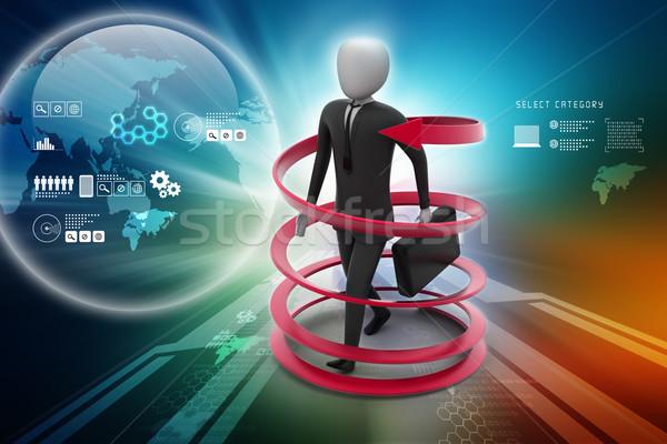 3次元の男 ビジネス 成功 背景 速度 市場 ストックフォト © cuteimage