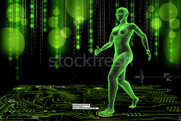 woman female human body Stock photo © cuteimage