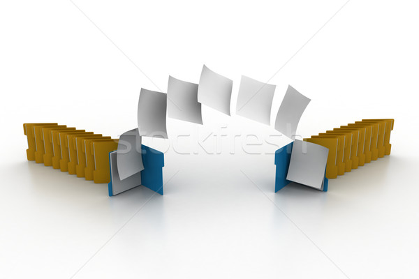 Documents moving one folder to another Stock photo © cuteimage