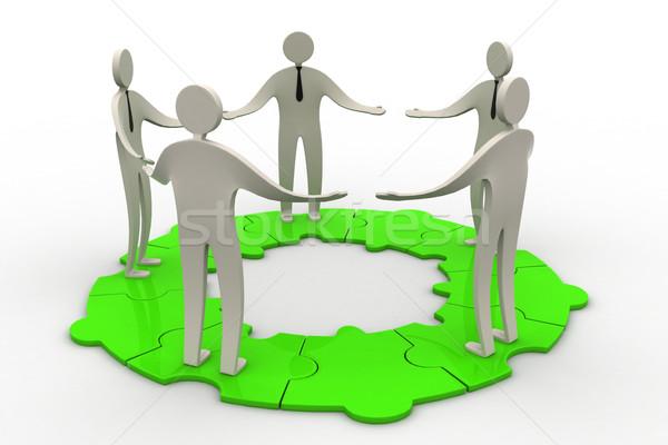 3D insanlar kalabalık ağ web grup Stok fotoğraf © cuteimage