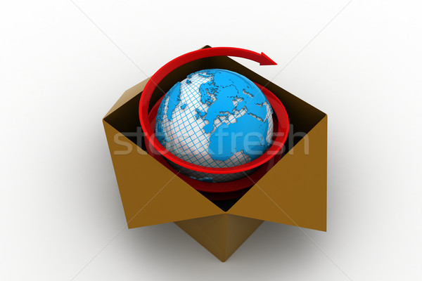 3D global de negócios comércio mundo fundo terra Foto stock © cuteimage