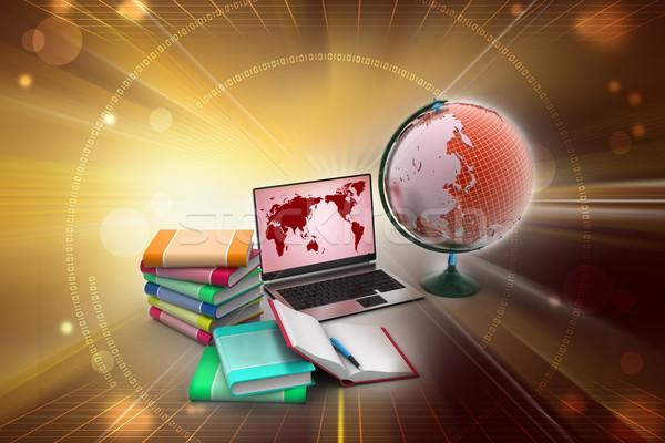 образование бизнеса служба книга мира школы Сток-фото © cuteimage