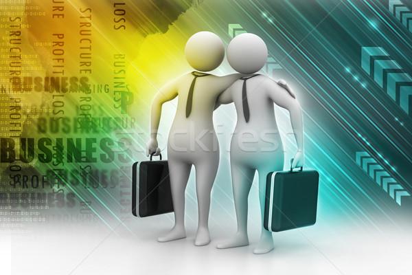 два деловые люди общаться вместе бизнеса служба Сток-фото © cuteimage