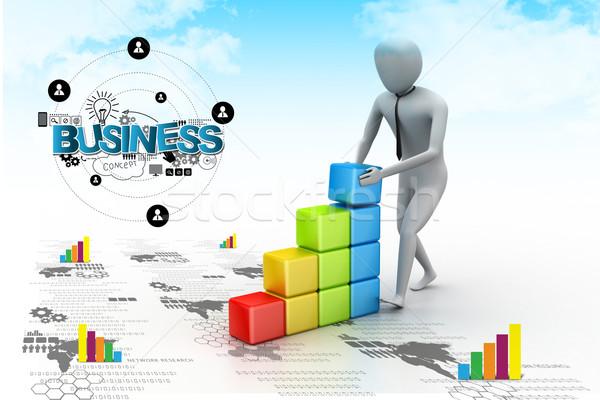роста бизнеса строительство фон окна мужчин Сток-фото © cuteimage