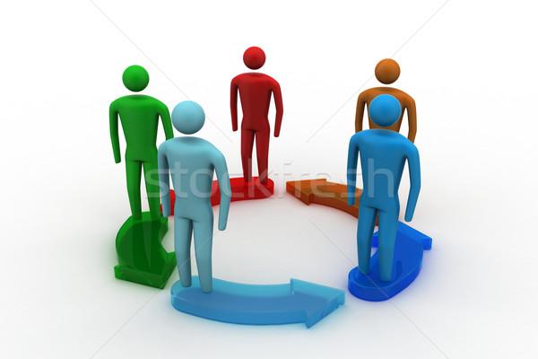 Foto stock: 3D · personas · multitud · red · web · grupo
