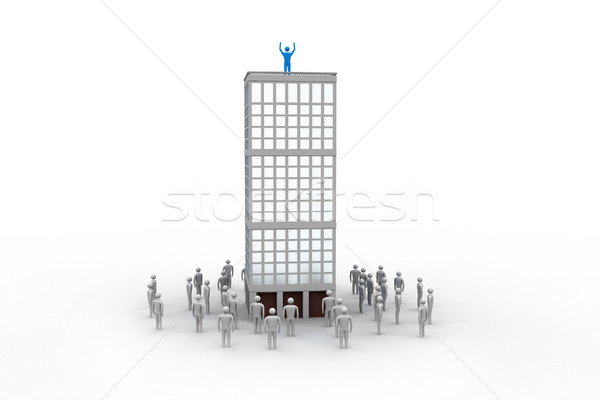 3d people in team work Stock photo © cuteimage