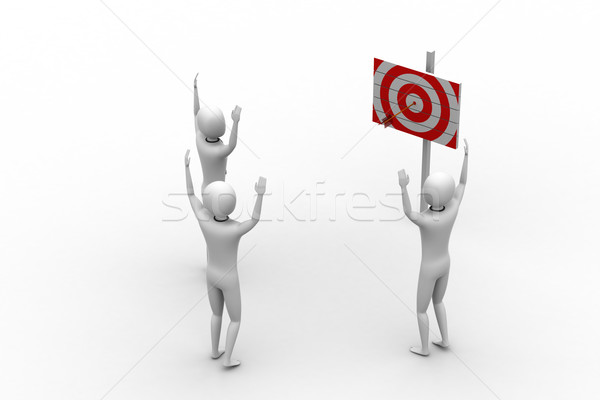 persons with a target and arrows Stock photo © cuteimage