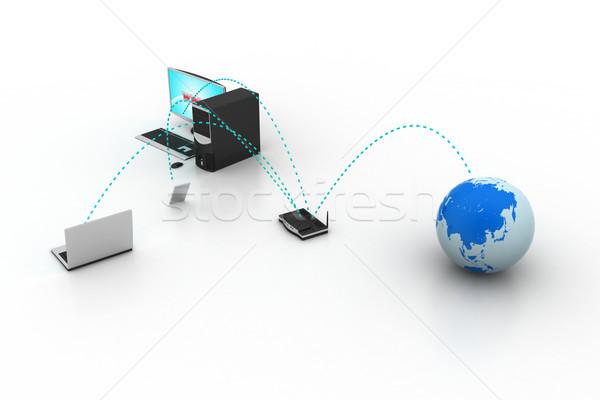 компьютер сетей мира интернет дизайна фон Сток-фото © cuteimage