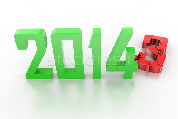 3d render yılbaşı 2014 2013 değiştirmek mutlu Stok fotoğraf © cuteimage