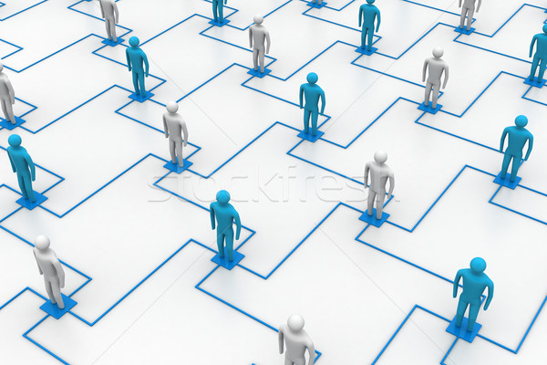 network, connecting people Stock photo © cuteimage