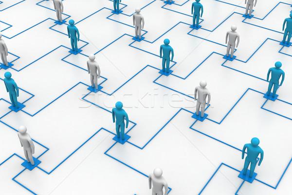 Ağ insanlar bilgisayar toplantı temas Stok fotoğraf © cuteimage