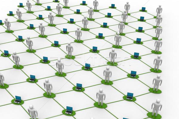 Social network concept Stock photo © cuteimage