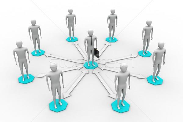 3D 画像 バーチャル 男性 グローバル 接続 ストックフォト © cuteimage