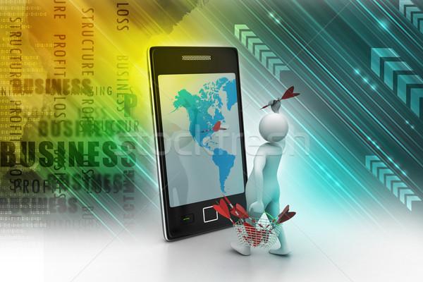 成功 地図 背景 ネットワーク 携帯 通信 ストックフォト © cuteimage