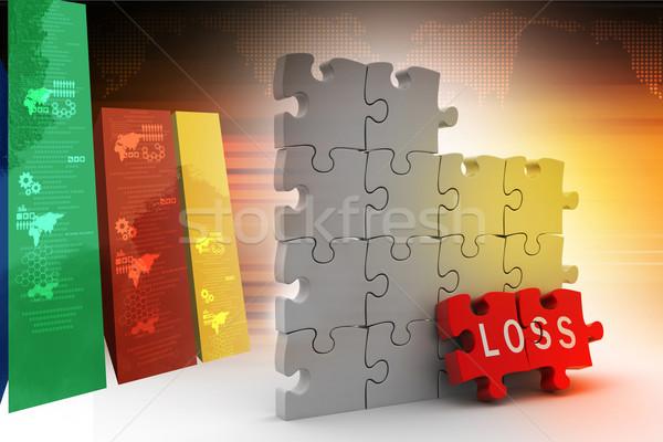 Perte puzzle pièce fond boîte web Photo stock © cuteimage