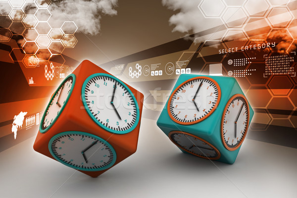 3d watch in cube   Stock photo © cuteimage