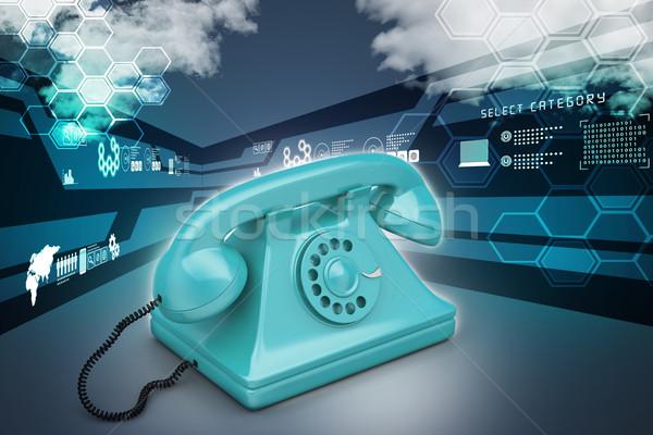 Old fashion telephone Stock photo © cuteimage