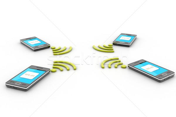 スマートフォン ワイヤレス技術 ワイヤレス お金 電話 技術 ストックフォト © cuteimage