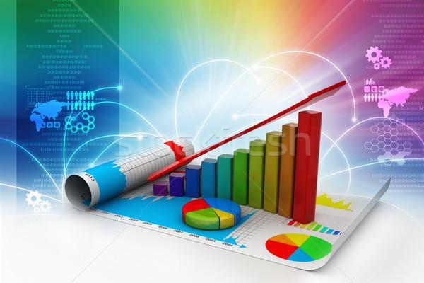 ビジネス 成長 グラフ 円グラフ オフィス 金融 ストックフォト © cuteimage