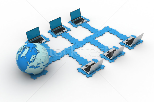 Global computador networking negócio internet globo Foto stock © cuteimage