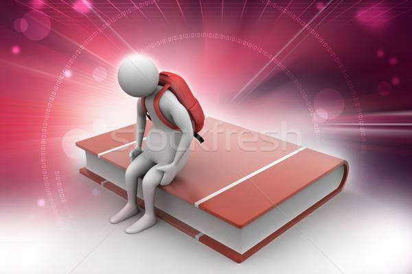 образование человека студент сумку исследование успех Сток-фото © cuteimage