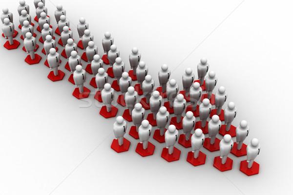 3次元の人々 矢印 インターネット 会議 技術 ビジネスマン ストックフォト © cuteimage