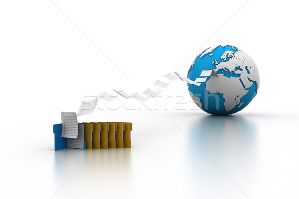 Files transferring Stock photo © cuteimage