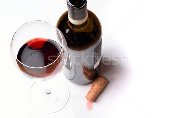 Wineglass with red wine Stock photo © cwzahner