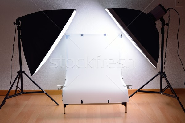 Shooting Table and studio lighting system Stock photo © cwzahner