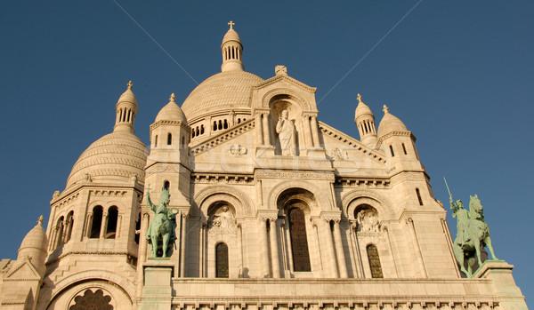 Montmartre város építészet Európa gyönyörű katedrális Stock fotó © cynoclub