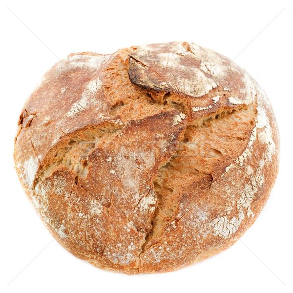 Pão pão branco comida estúdio isolado Foto stock © cynoclub