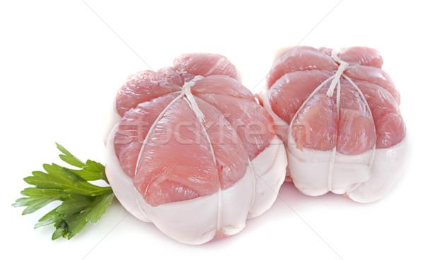 Borjúhús étel hús szakács gyógynövény fehér háttér Stock fotó © cynoclub