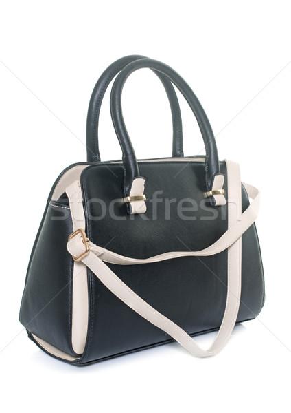 сумочка студию кожа белый моде черный Сток-фото © cynoclub