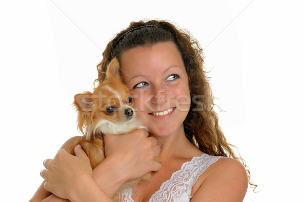 girl and chihuahua Stock photo © cynoclub