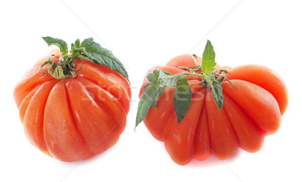 ビーフステーキ トマト 白 葉 ストックフォト © cynoclub