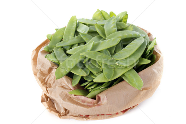 snow peas in paper bag Stock photo © cynoclub