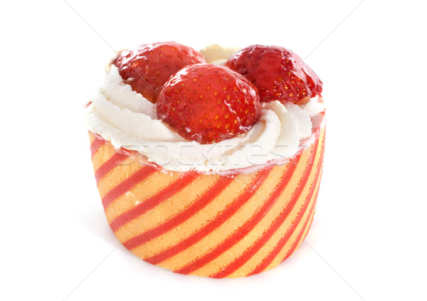 strawberry cake Stock photo © cynoclub